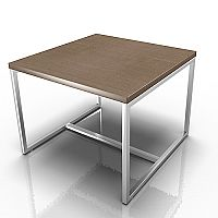 Square Reception Coffee Table Canaletto Walnut