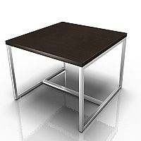 Square Reception Coffee Table Wenge