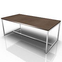 Rectangular Reception Coffee Table Canaletto Walnut