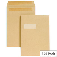 New Guardian 130gsm Envelopes C4 Manilla Pocket Peel and Seal (Pack of 25)
