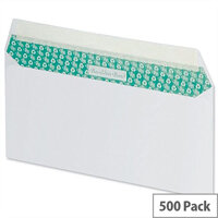 Basildon Bond DL Envelopes Peel and Seal White 100gsm Wallet Pack of 500