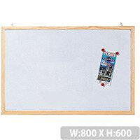 Magnetic Whiteboard Wooden Frame H600 x W800mm Franken CC-MM6080 E