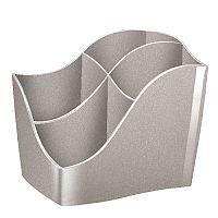 CEP Ellypse Xtra Strong Pencil Cup Taupe Silver 1003400201