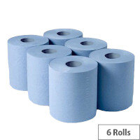 Blue Centerfeed Roll 2Ply Pack of 6 CFB2