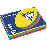 Trophee Card A4 160gm Intensive Assorted Pack of 250 1713C