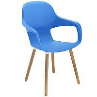 Ariel 2 Canteen & Breakout Wooden Leg Chair Blue