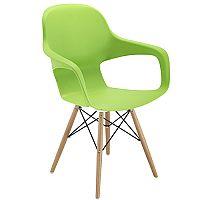 Ariel 2 Canteen & Breakout 4 Leg Wooden & Wire Chair Green