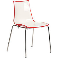 Gecko Red Shell Canteen & Breakout Stacking Chair with Chrome Legs