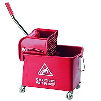 Red Mobile Mop Bucket and Wringer 20 Litre 101248RD