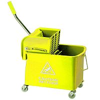 Yellow Mobile Mop Bucket and Wringer 20 Litre 101248YL