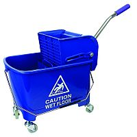 Blue Mobile Mop Bucket and Wringer 20 Litre 101248BL