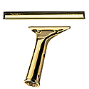 Contico 14 Inch Squeegee Replacement Channel and Rubber Brass