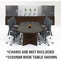 Corniche Executive Cherry Walnut Veneer Boardroom & Conference Room Table 10 - 12 Seater W3000xD1100xH720mm