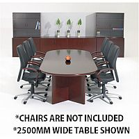 Corniche Executive Cherry Rosewood Veneer Boardroom & Conference Room Table 12 - 14 Seater W4000xD1100xH720mm