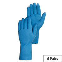 Caterpack Rubber Gloves Medium Pack (6 Pairs) 174028 Ref 0068