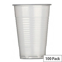 Maxima Plastic Disposable Cold Drinks Cups Clear 7oz/200ml [Pack of 100]