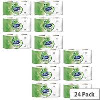 Triple Velvet Toilet Tissue Paper Rolls White 3-Ply 200 Sheets per Roll (Pack of 24) 1102088