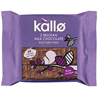 Kallo Milk Chocolate Rice Cake Thin Pack of 21 0401171