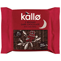 Kallo Dark Chocolate Rice Cake Thin Pack of 21 0401167