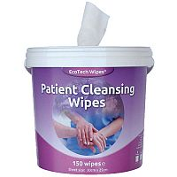 Ecotech Patient Skin Cleansing Wipes Bucket Tube Pack 1 (Contains 150 Wipes)
