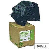 The Green Sack Black Compactor Sack in Dispenser 90 Litres Pack of 40 VHPGR0602