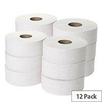Maxima Mini Jumbo Dispenser Toilet Refill Paper Tissue Rolls 200m Pack 12 KMAX2500