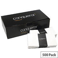Conqueror Laid DL Wallet Envelopes Cream 120gsm Pack of 500