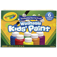 Crayola Washable Kids Paint Colours Pack of 36 54-1204