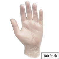 Professional Hygiene Vinyl Powder Free Clear Gloves Large 100