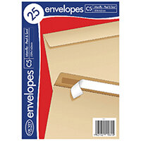 County Stationery C5 25 Manilla Peal and Seal Envelopes Pack of 20 C511