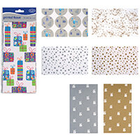 County Stationery Printed Tissue Assorted Designs Pack of 60 C195