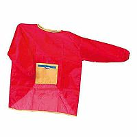 Set of 5 Children's Red Aprons Size Medium