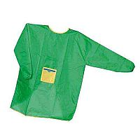Set of 5 Adult's Aprons Green