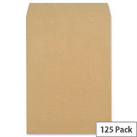 New Guardian Pocket Envelopes 406x305mm 130gsm Manilla Peel and Seal Pack of 125