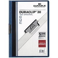 Durable Duraclip File A4 3mm Dark Blue Pack of 25 2200/07