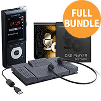 Olympus Transcription Starter Kit DS-2600 and AS-2400 Dictation Software - Includes Foot Pedal & Headphones - Transcription Bundle Offer