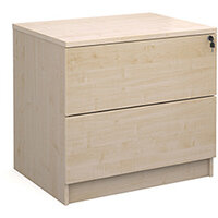 Executive 2 drawer side filer - maple