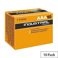 Duracell Industrial AAA Alkaline Batteries Pack 10 81484523