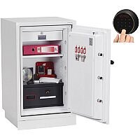 Phoenix Datacombi DS2502F Size 2 Data Safe with Fingerprint Lock White 84L 90min Fire Protection