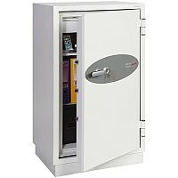 Phoenix Datacombi DS2503K Size 3 Data Safe with Key Lock White 145L 120min Fire Protection