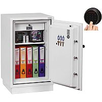 Phoenix Fire Fighter FS0442F Size 2 Fire Safe with Fingerprint Lock White 84L 60min Fire Protection