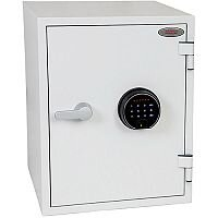 Phoenix Titan FS1283F Size 3 Fire & Security Safe with Fingerprint Lock White 36L 60min Fire Protection