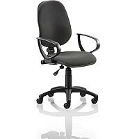 Eclipse I Lever Task Operator Office Chair Black With Loop Arms