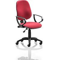 Eclipse I Lever Task Operator Office Chair Wine With Loop Arms
