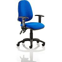 Eclipse II Lever Task Operator Office Chair Blue With Height Adjustable Arms