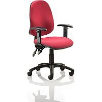Eclipse II lever Task Operator Office Chair Wine With Height Adjustable Arms