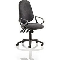 Eclipse XL III Lever Task Operator Office Chair Charcoal With Loop Arms