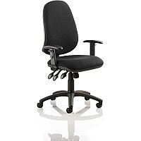 Eclipse XL III Lever Task Operator Office Chair Black With Height Adjustable Arms