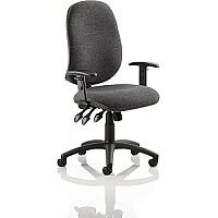 Eclipse XL III Lever Task Operator Office Chair Charcoal With Height Adjustable Arms