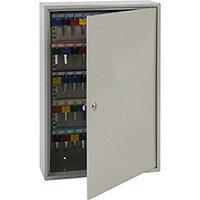 Phoenix Keysure KC0302K 100 Hook Deep Key Cabinet with Key Lock Light Grey